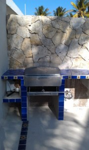 Talavera tile and propane BBQ